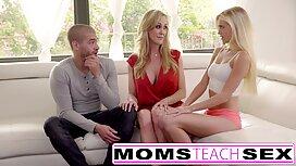 2 mères matures et 2 garçons porno xxx français baisent dans la piscine